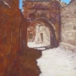 10-Rue à Télouet, huile sur toile, 27x19, disponible à la vente.