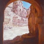 11-Kasbah de Télouet 1, huile sur toile, 27x19, disponible à la vente.