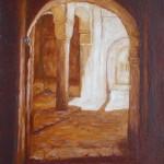 14-Kasbah de Télouet 4, huile sur toile, 27x19, disponible à la vente.