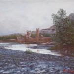 18-Paysage 2 à Aît Benhaddou, huile sur toile, 27x22, disponible à la vente.