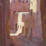 24-Rue à Ouarzazate, vieille ville 2, huile sur toile, 22x16