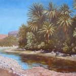 28-L'oasis de Fint, huile sur toile, 100x73, disponible à la vente.
