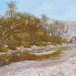 29-Oasis de Fint, huile sur toile, 22x14, disponible à la vente.