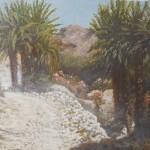 41-La piste vallée du Draa, huile sur toile, 46x33, disponible à la vente.