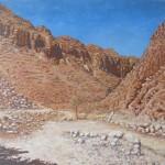 57-Les gorges du Todgha, huile sur toile, 55x38, disponible à la vente.