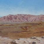 60-Paysage à Tinerhir, huile sur toile, 20x80, disponible à la vente.