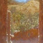 62-Vieille rue à Aît Ouaritane, huile sur toile, 33x24