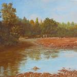63-Paysage à Aît Aissa-Oubrahim, huile sur toile, 33x24