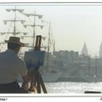 009: Gérard B. sur carte postale, sur le motif à Rouen
