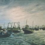 011: Marée basse à Erquy, huile sur toile, 130x97