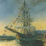 021: Le Palunéro à Rouen, huile sur toile, 81x65