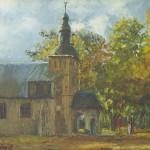 024: La petite chapelle Notre Dame de Grâce à Honfleur, huile sur toile, 27x22