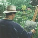 027: Gérard B. sur le motif, chez Claude Monet à Giverny,