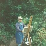 028: Gérard B. sur le motif, chez Claude Monet à Giverny