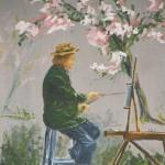 """031: Peinture de Gérard B., """"Tifine sur le motif"""" huile sur toile, 24x19"""