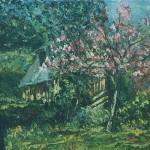 032: Bocage normand à Cambremer, huile sur toile, 27x22