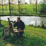 """036: Gérard B. sur le motif aux étangs du Drochon """"Houlgate"""""""