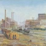 037: La Société Métallurgique de Normandie à Colombelles, huile sur toile, 162x130