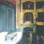 040: Le théâtre de Cherbourg, huile sur toile, 116x89, disponible à la vente.
