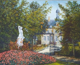 045: Le parc de Flers, huile sur toile, 100x73, disponible à la vente.