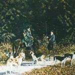 048: Scène de chasse à courre, huile sur toile, 116x89, disponible à la vente.