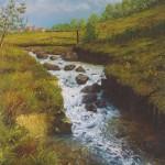 050: Bocage normand à Vire, huile sur toile, 73x54, disponible à la vente.