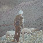 100- Berger à Aït-El-Rhazi, huile sur toile, 35x27, disponible à la vente.