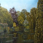 9h sur le motif à Giverny, huile sur toile, 120x120