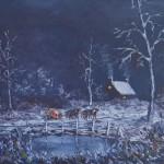 Le père Noel, huile sur toile, 27x22